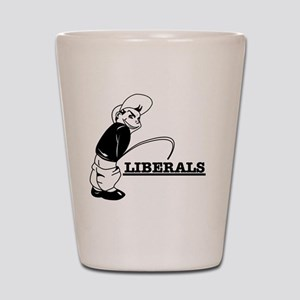 Anti Liberal designs Shot Glass